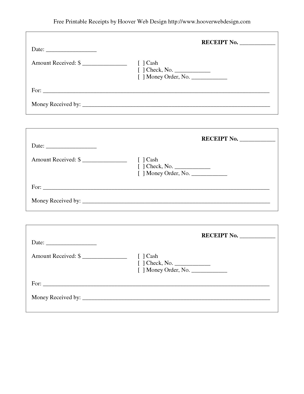 post printable blank receipt form template 251593