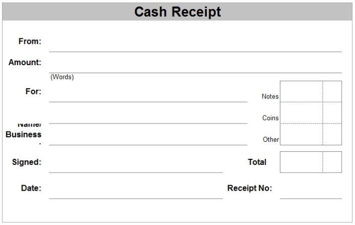 free receipt template word pdf doc