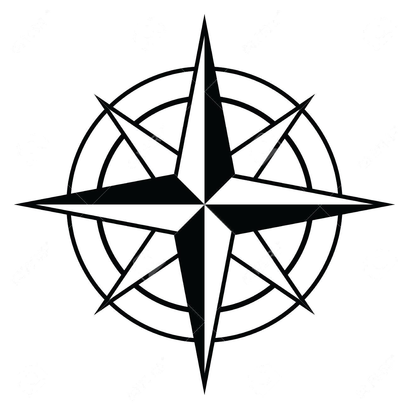 compass template printable