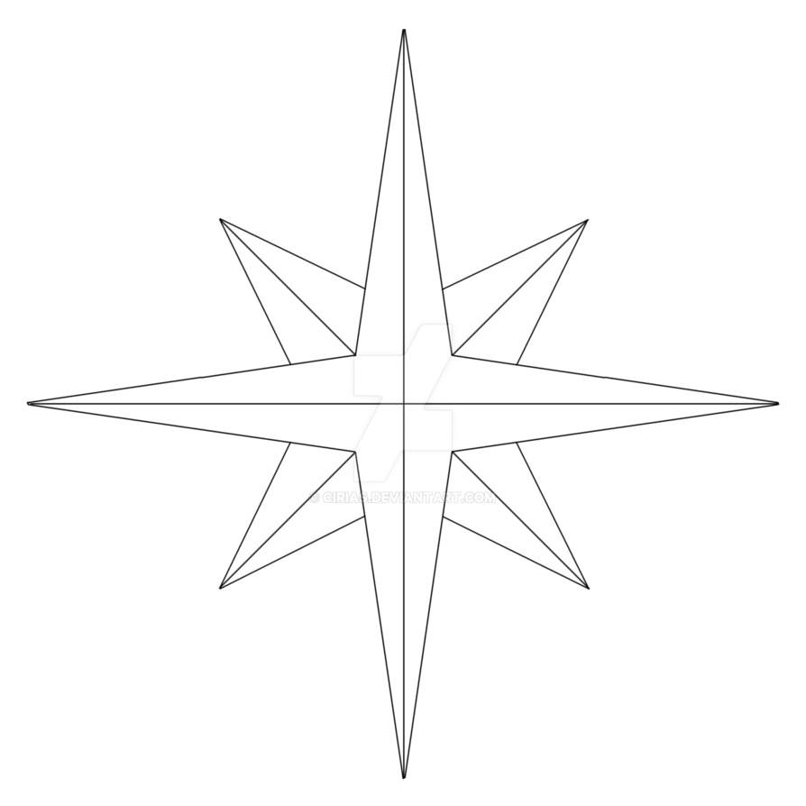 Printable Compass Rose Template Compass Rose Template by Cirias On Deviantart
