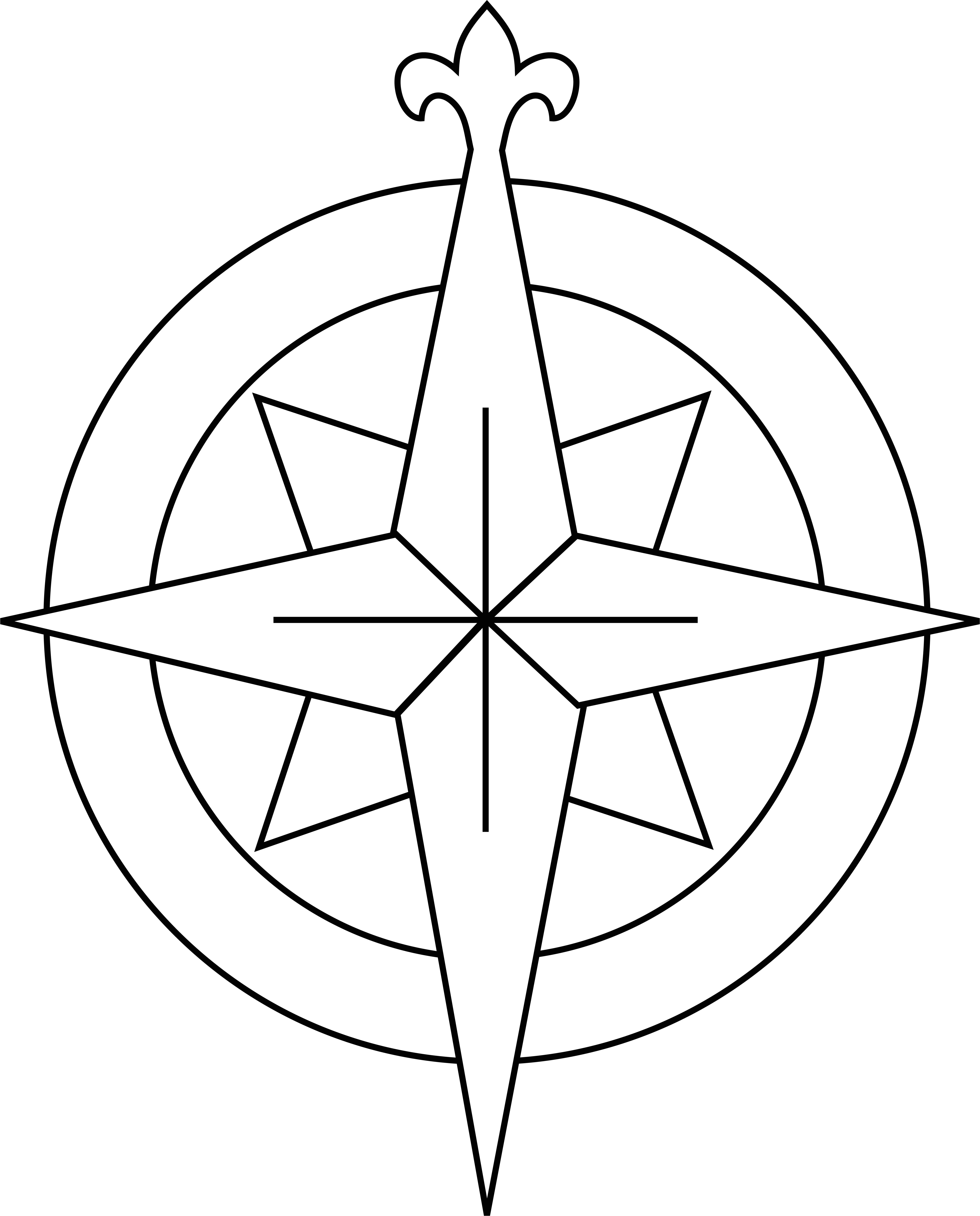 drawing compass clipart