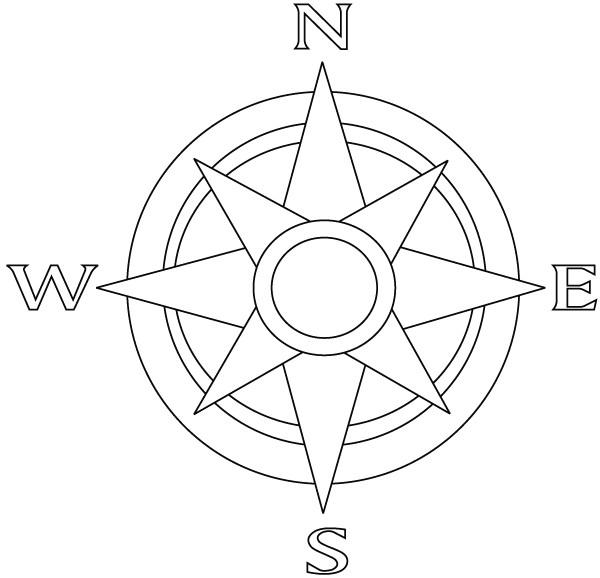 Printable Compass Rose Template Florida Template for Kids Small Printable Compass Rose