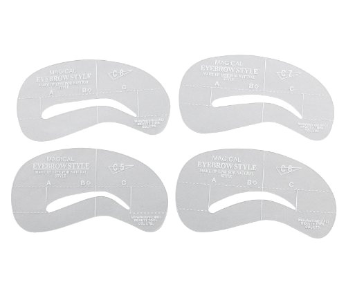 Printable Eyebrow Stencil Template 4 Best Images Of Printable Eyebrow Stencils Kit