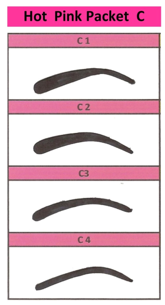 Printable Eyebrow Stencil Template 6 Best Images Of Printable Eyebrow Guides Free Printable