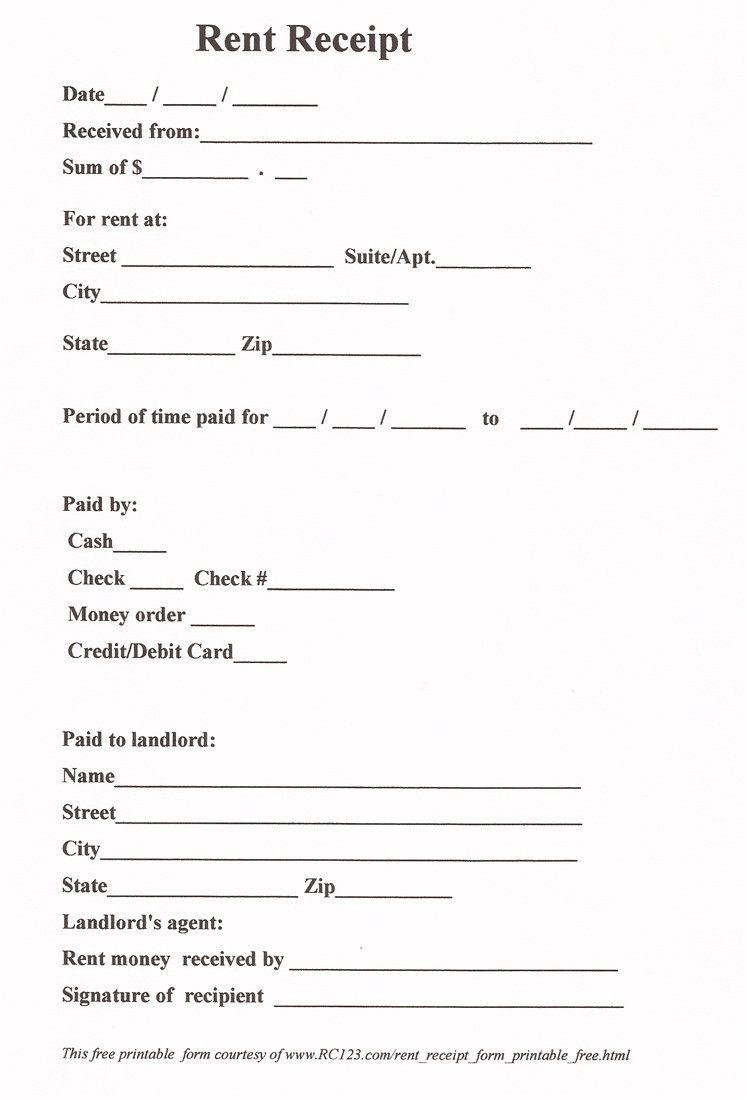 post free printable payment receipt form 251794