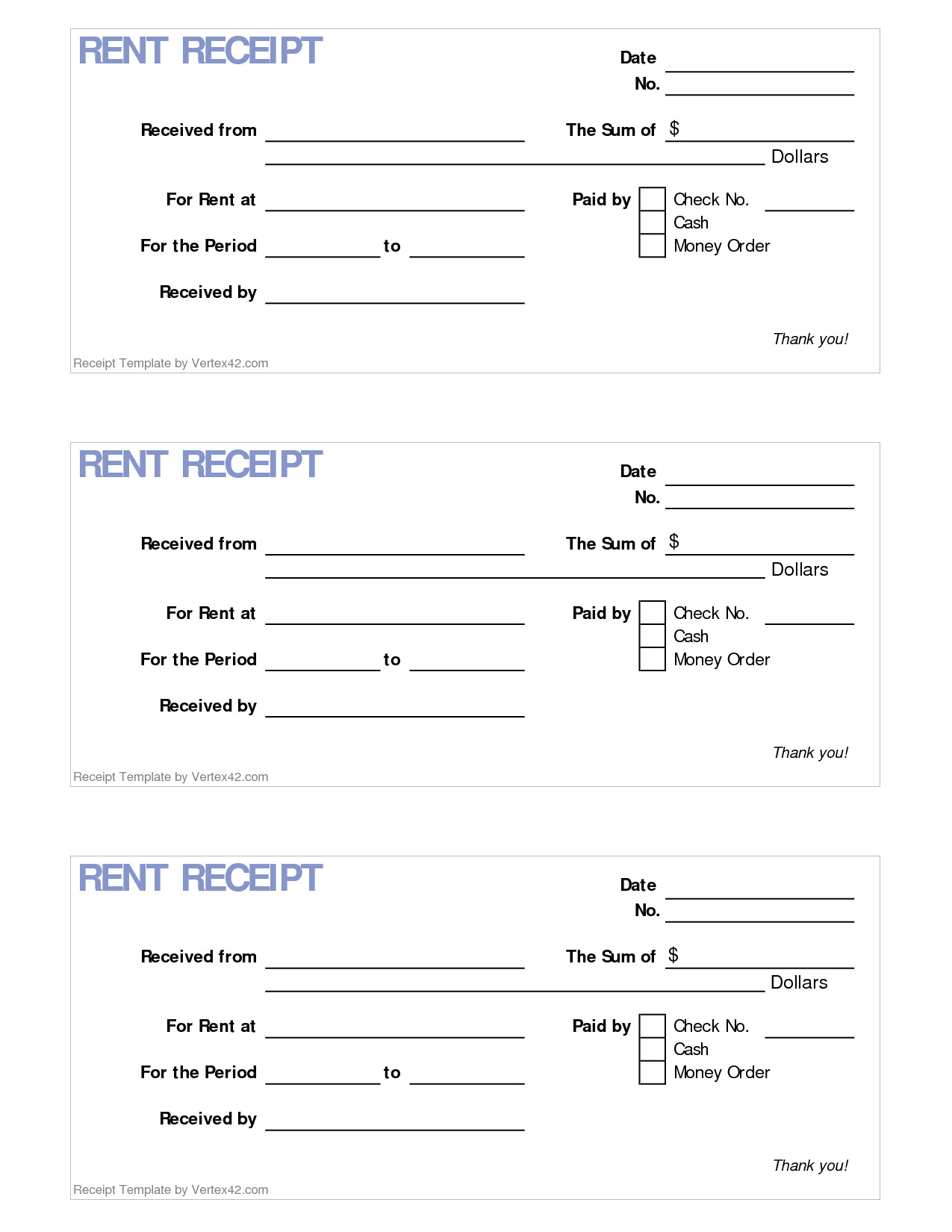 post printable rent receipt template 362120