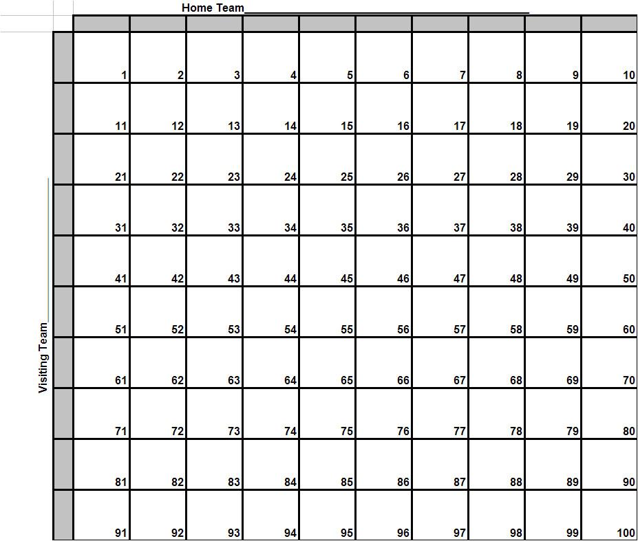 post super bowl football squares printable 350607