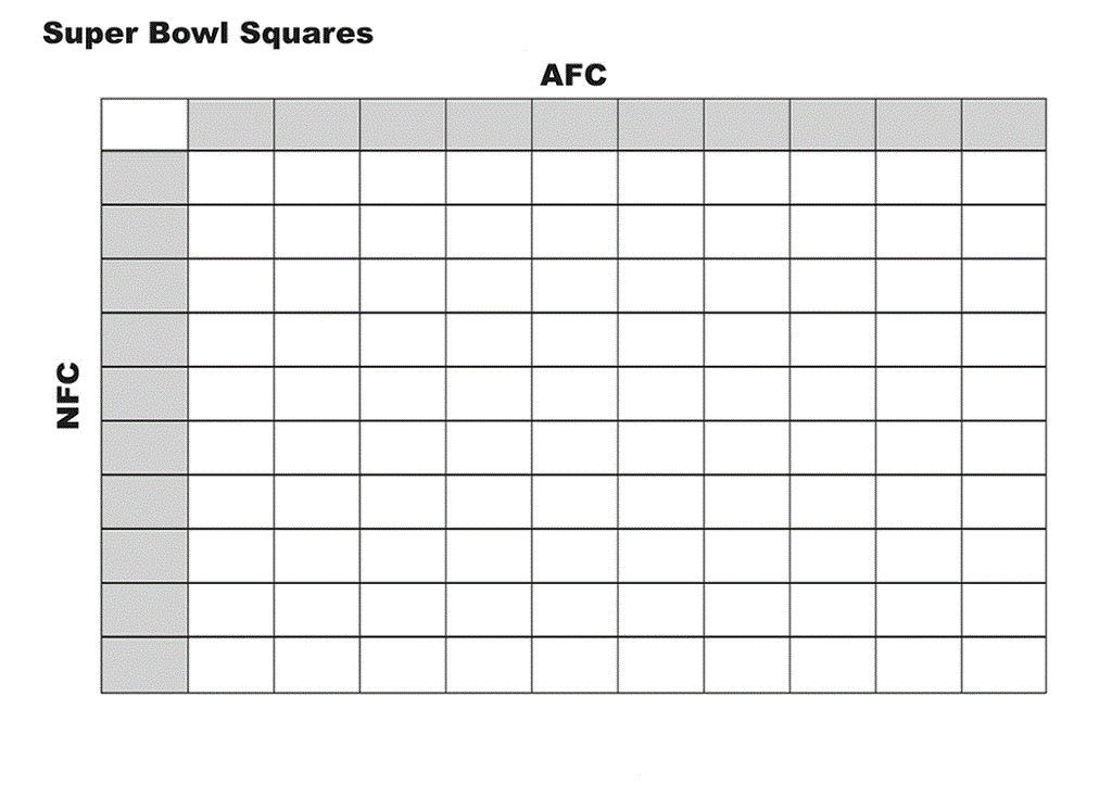 football squares template