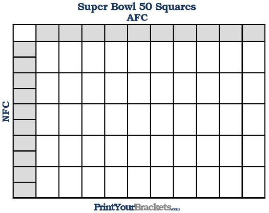 printable super bowl squares template