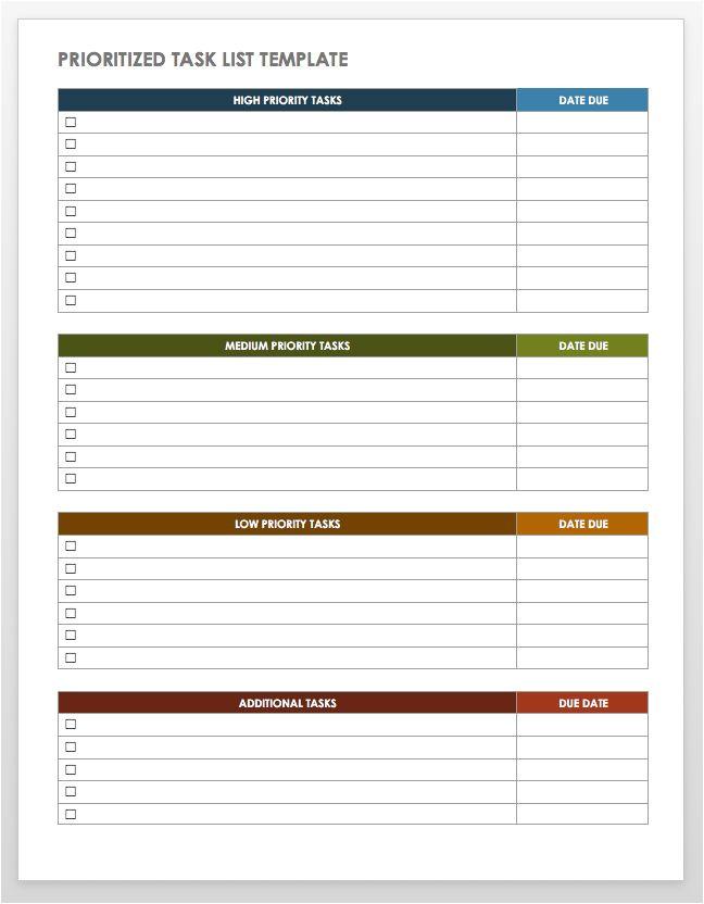 Prioritizing Tasks Template 28 Free Time Management Worksheets Smartsheet