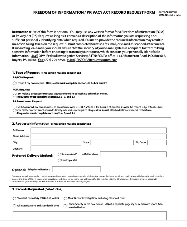 privacy act release form