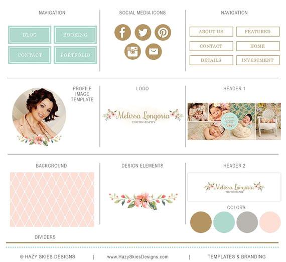Pro Photo Blog Templates Items Similar to Blog Kit for Photographers Blog Set for