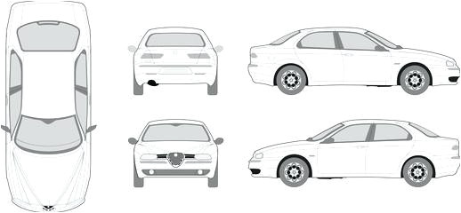 car pro vehicle outlines templates