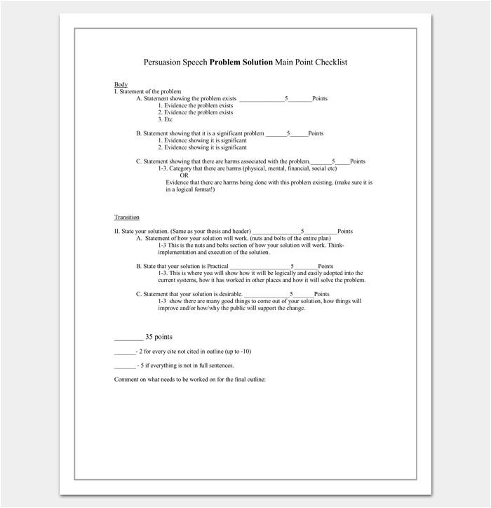 persuasive speech outline template