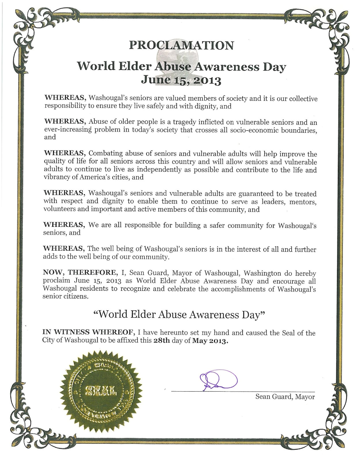 world elder abuse awareness day june