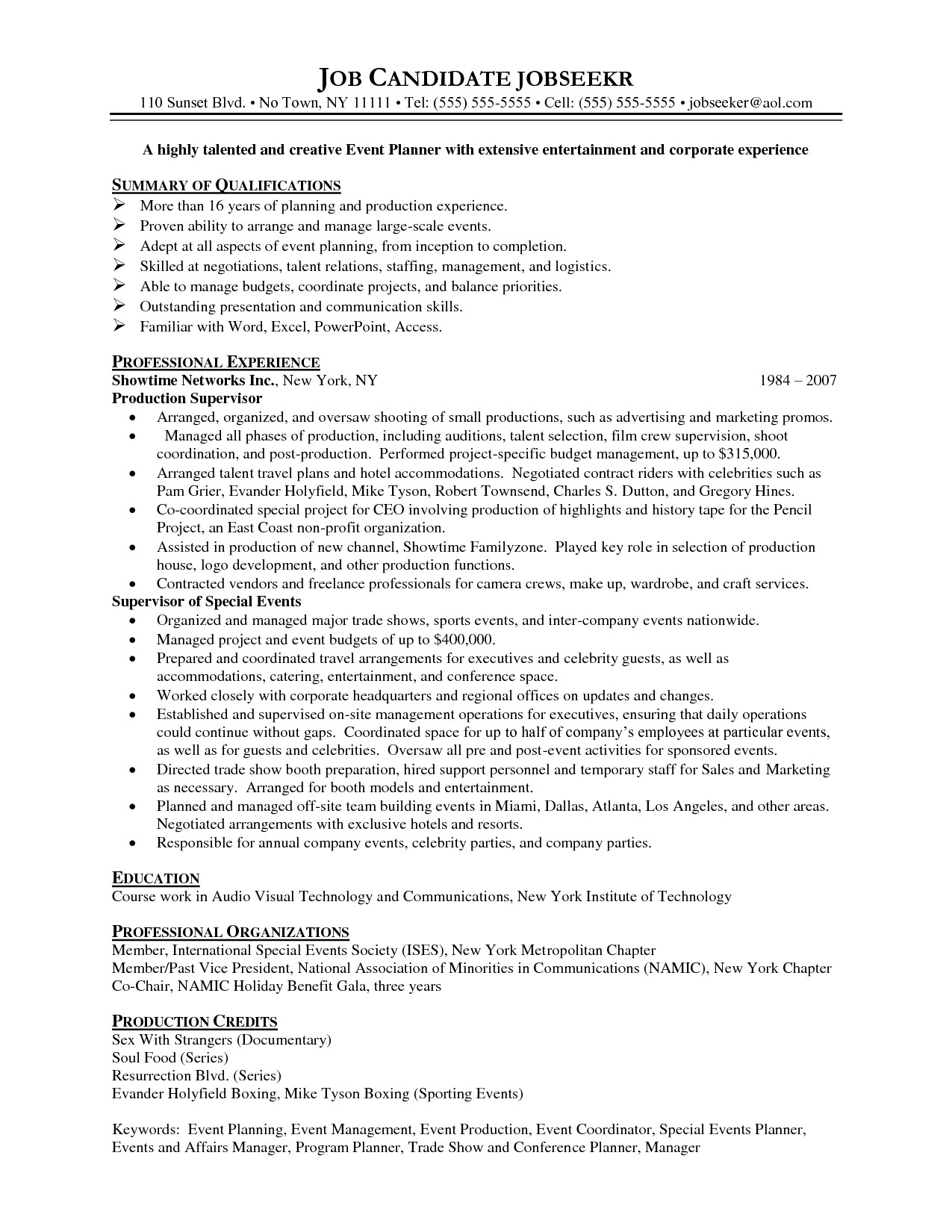 professional organizer resume sample