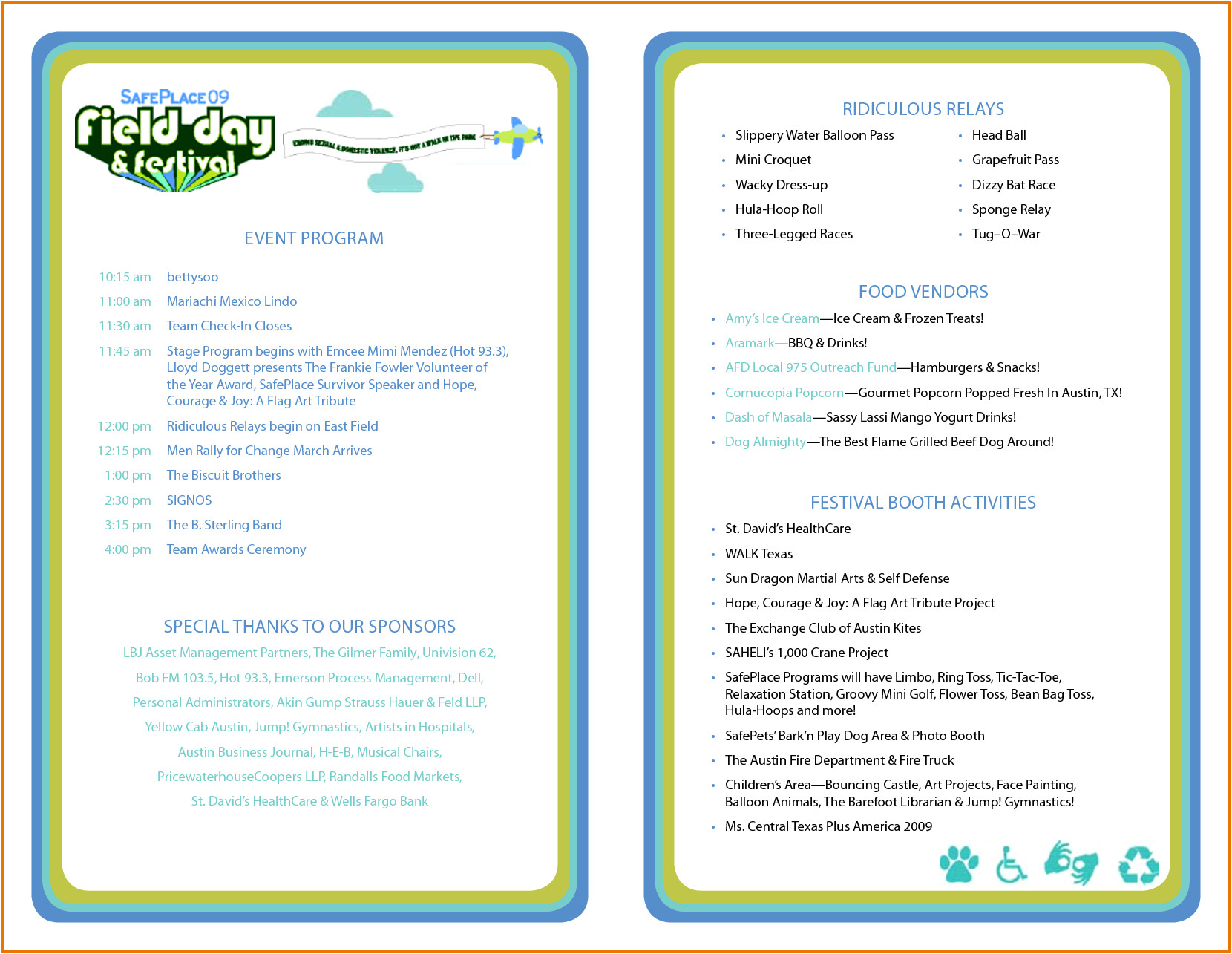 event program template
