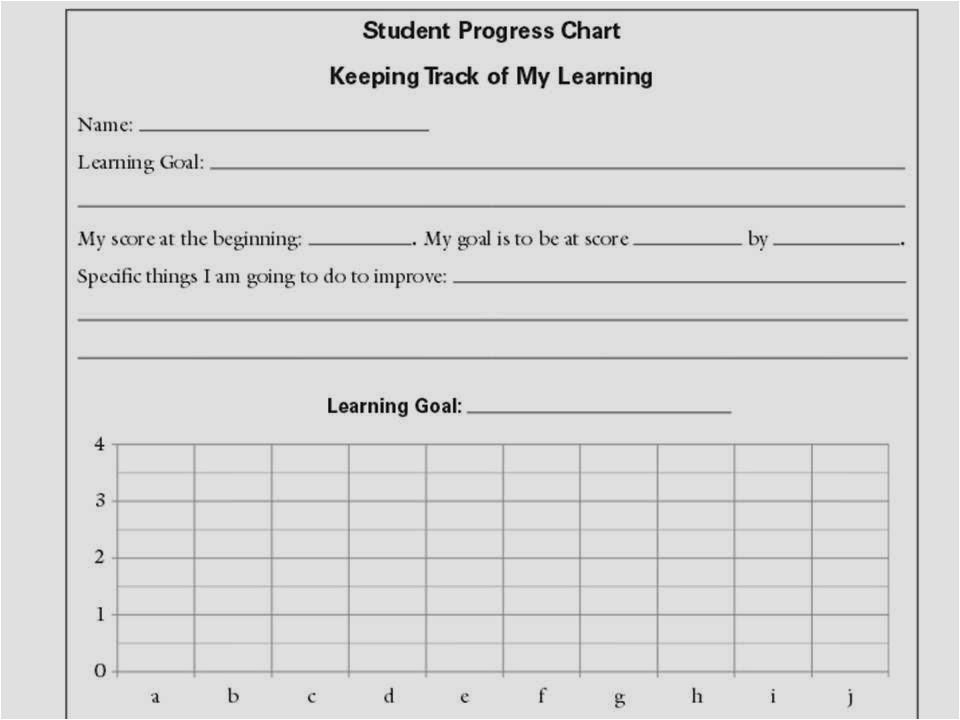 student progress template