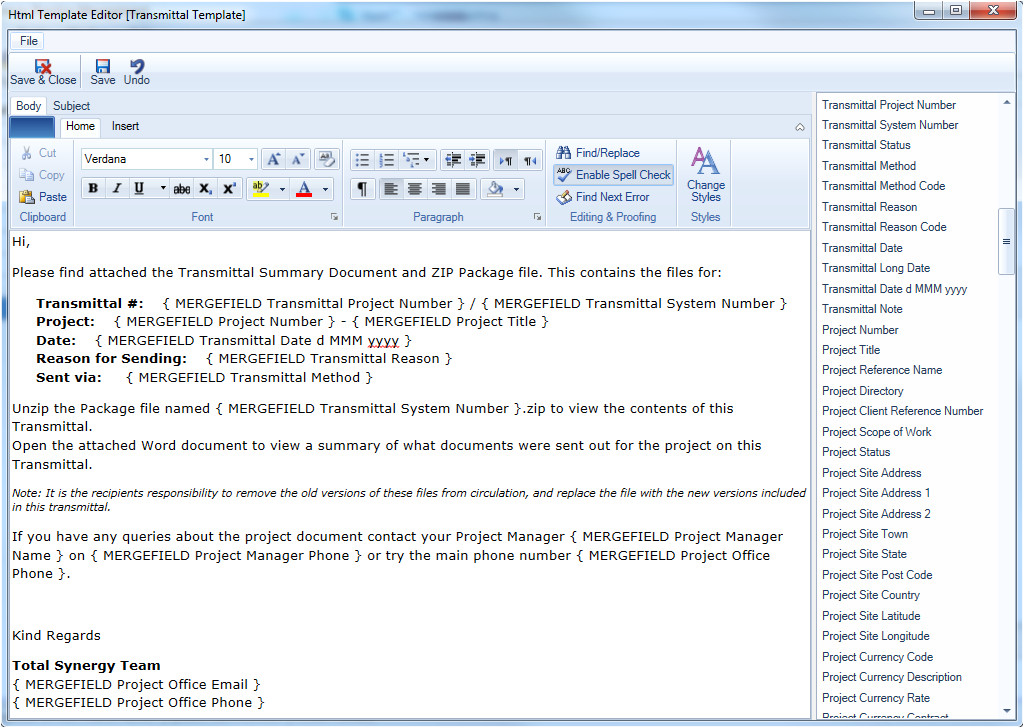 project manager email templates