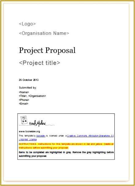 Project Proposal Template Word 2010 5 Project Proposal Template Word 2010 Fabtemplatez