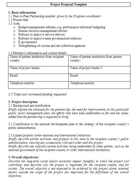 project proposal template word 2010