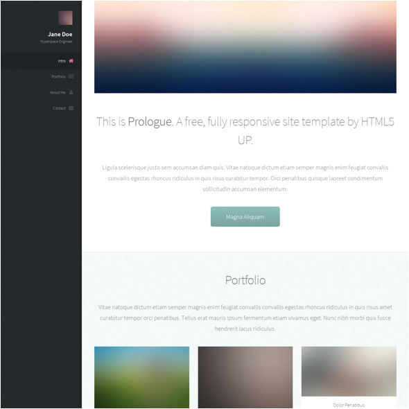 prologue responsive art or photography html template