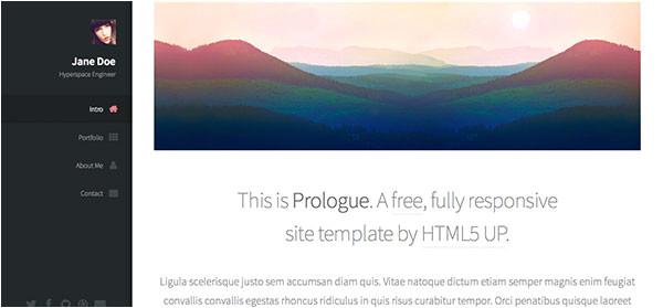 prologue responsive html5 template
