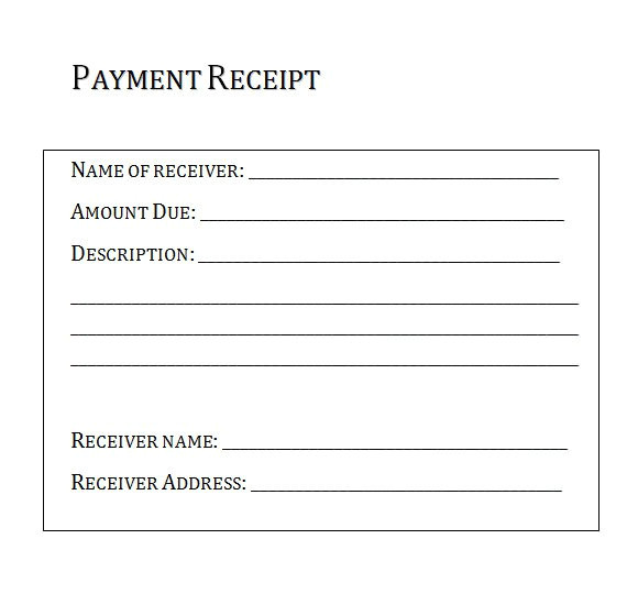 post proofs of payments receipts templates 5965
