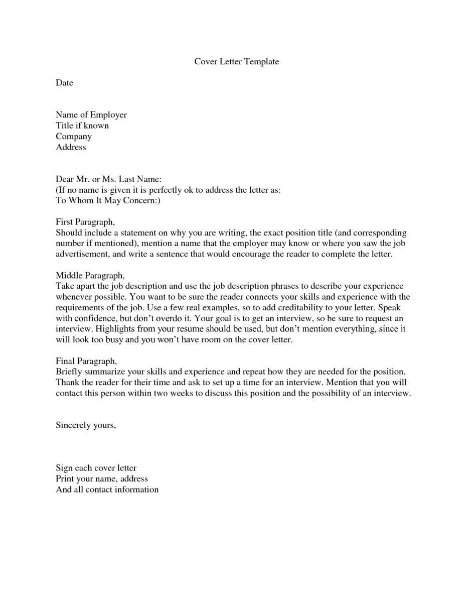 proper cover letter address format