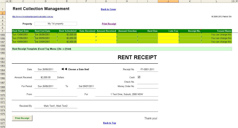 Property Management Receipt Template Blog Archives Filemillionaire