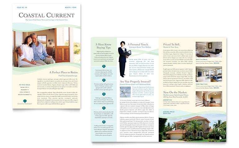 coastal real estate newsletter templates re0070301d