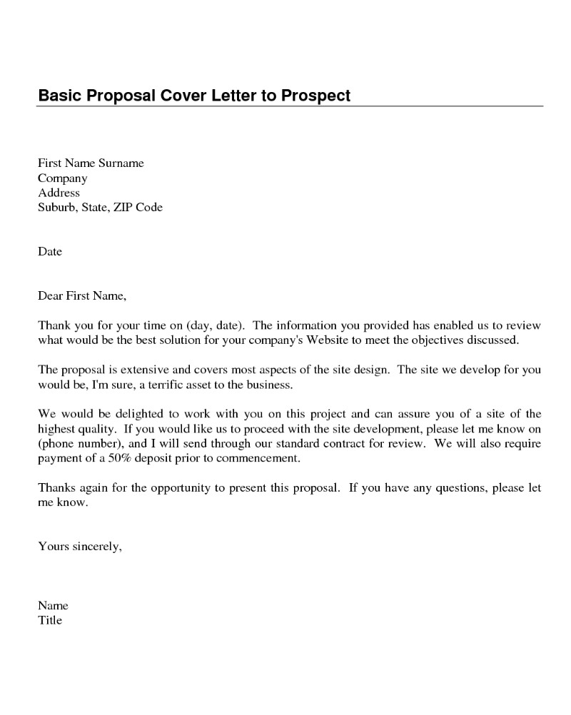 Prospects Cover Letter Download Cover Letter Samples
