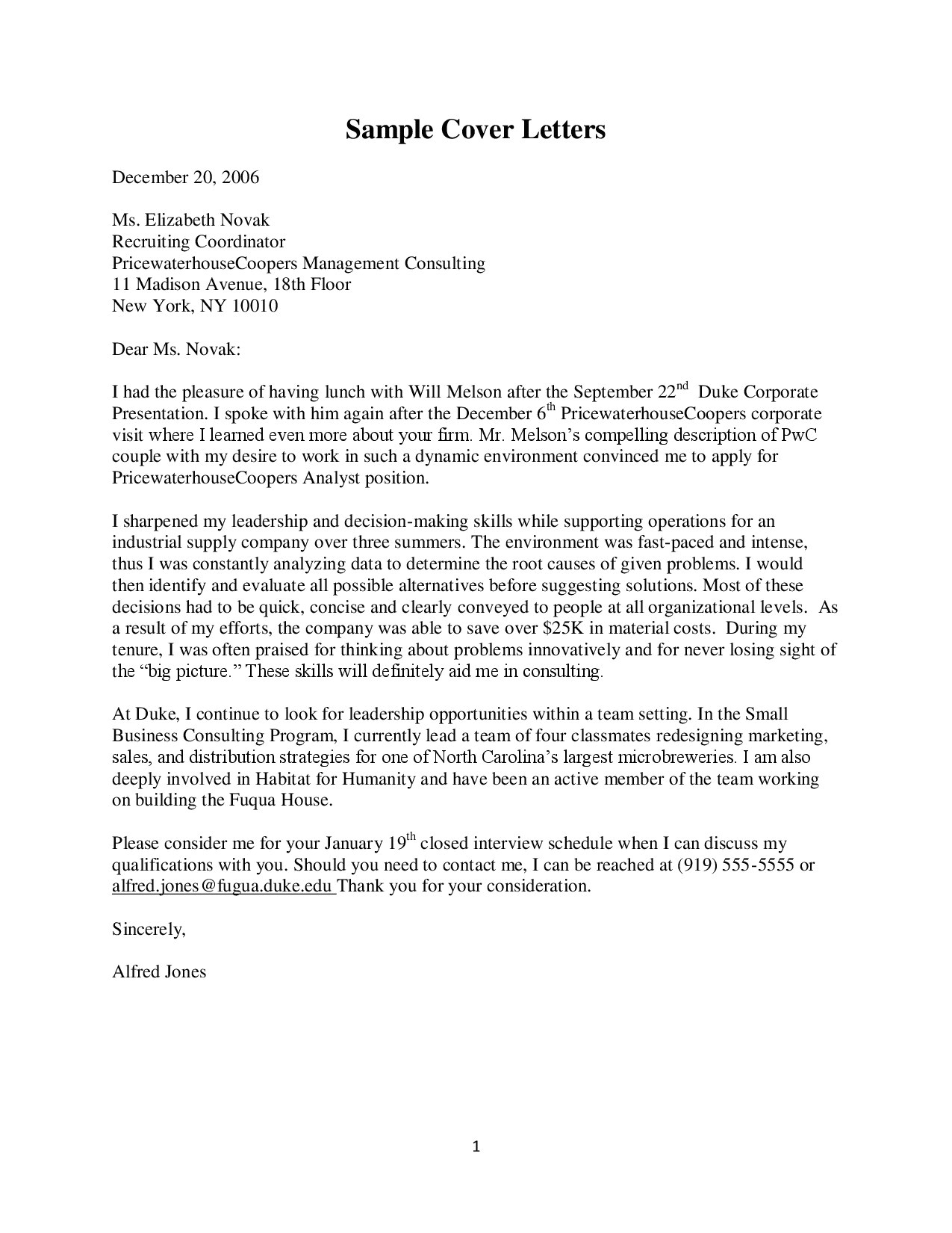 recruiting cover letter how to write a cover letter docsity
