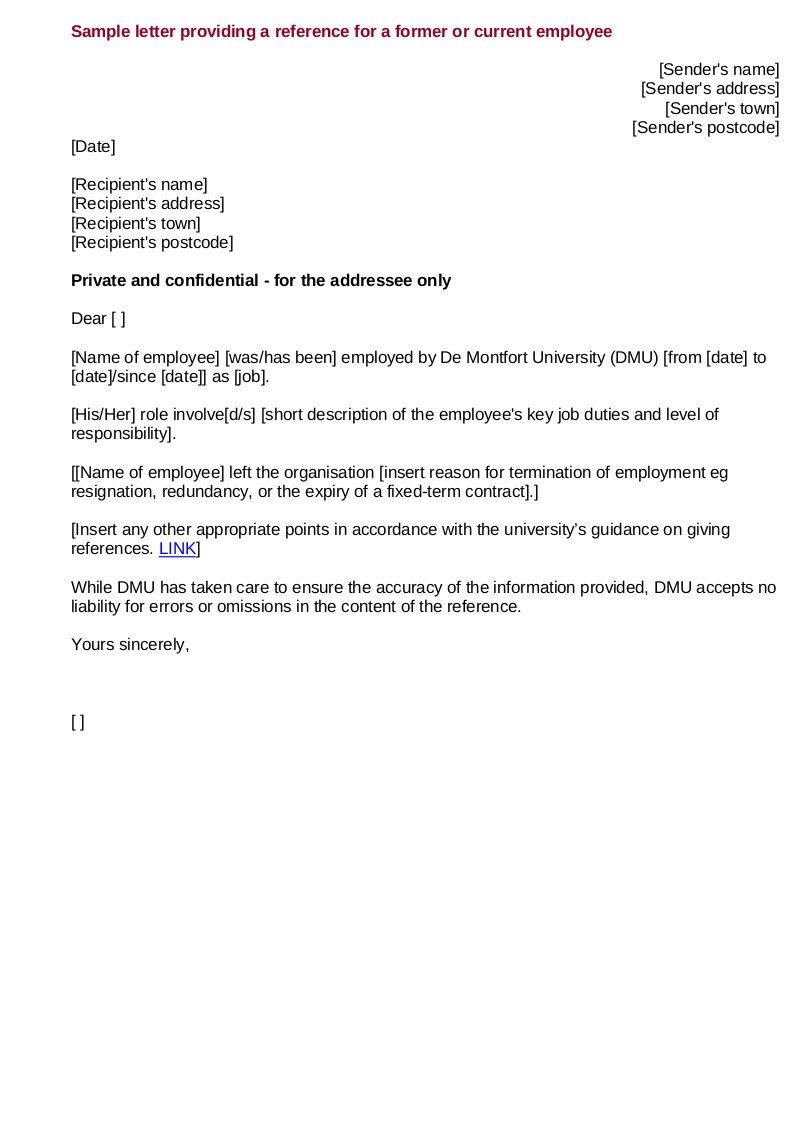 Providing A Reference Template 9 Employee Reference Letter Examples Samples In Pdf