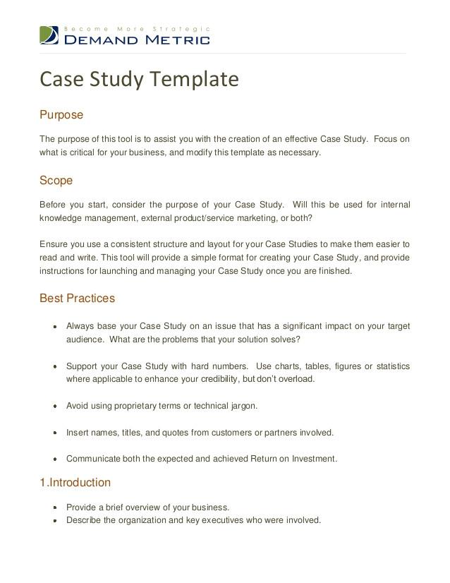 case study template 15855686