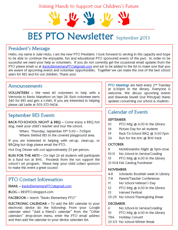 pto letter to teachers