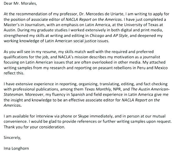 publishing cover letter