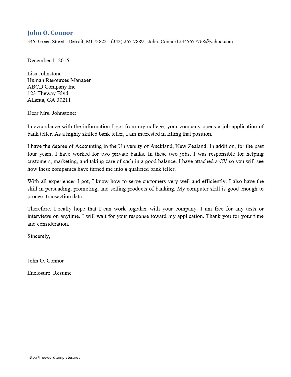 sample cover letter for publishing company