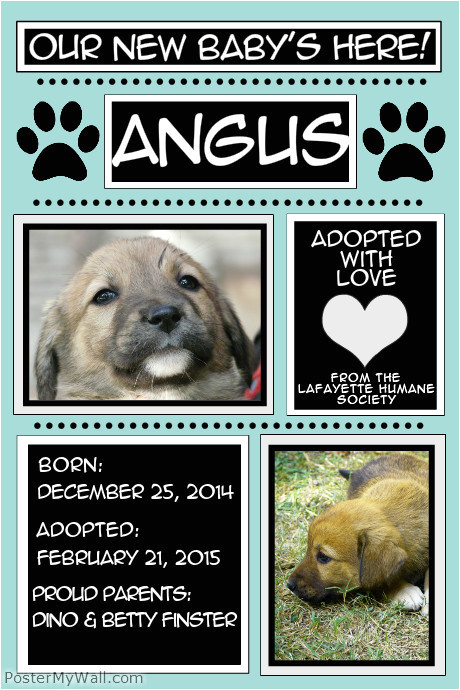 new puppy poster template
