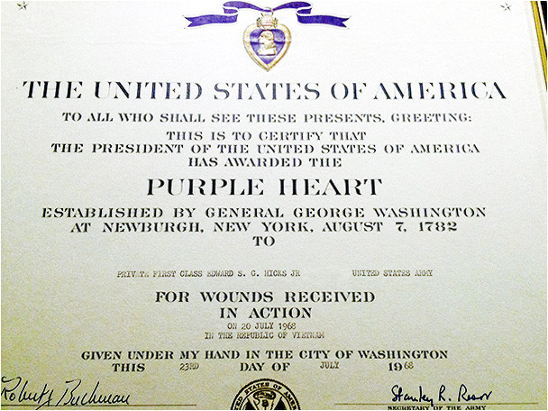 army award certificate