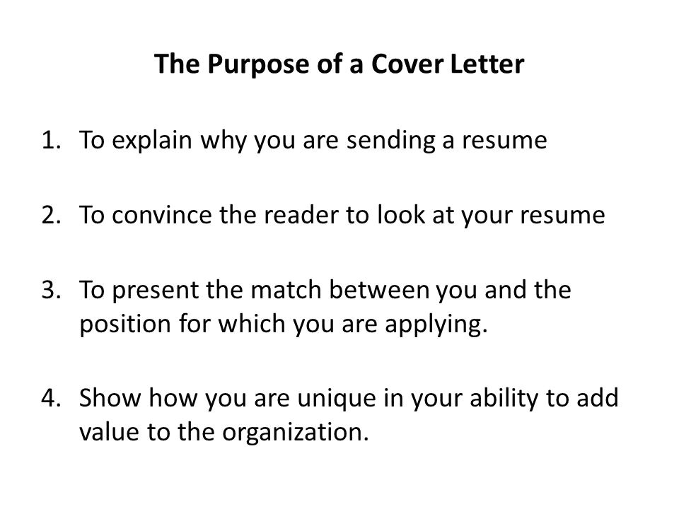 Purpose Of A Covering Letter Writing Cover Letters Ppt Video Online Download