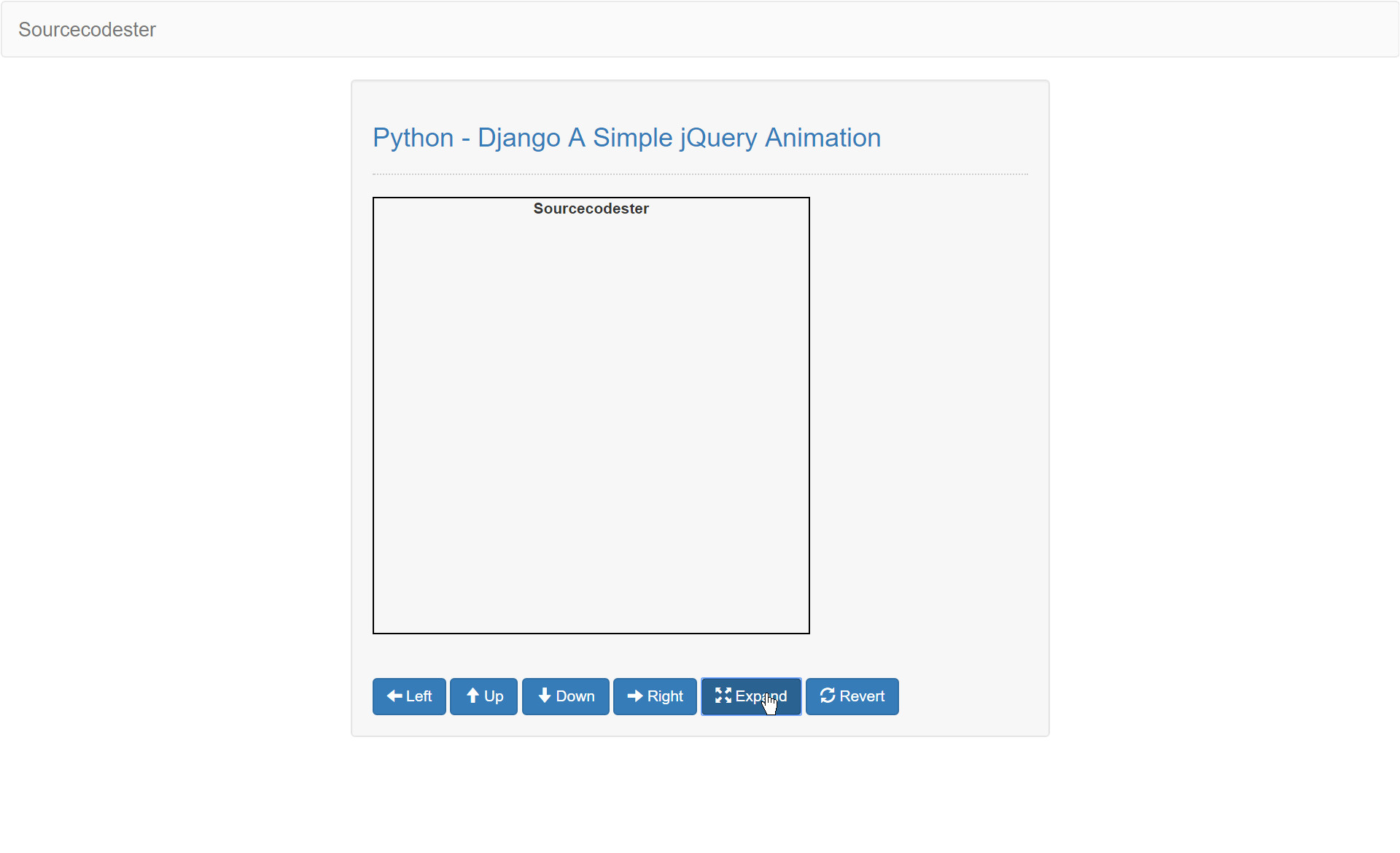 python django simple jquery animation