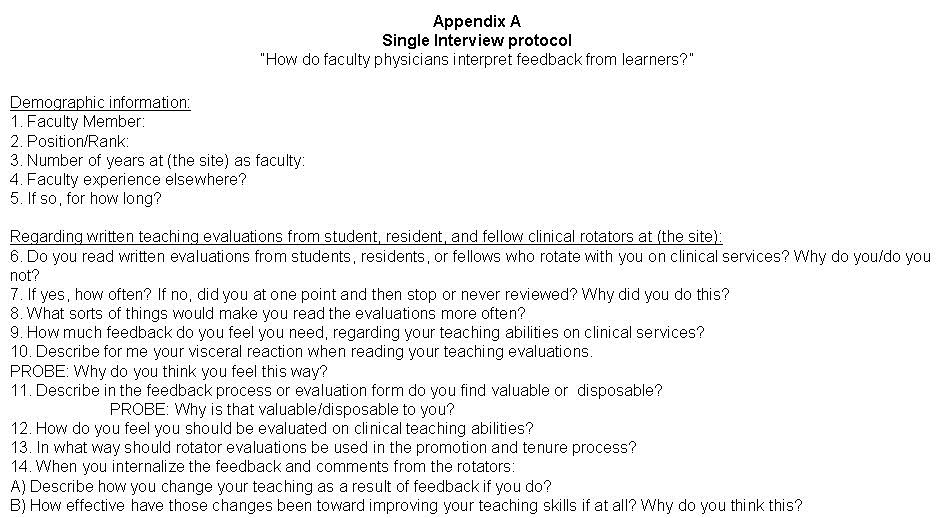 Qualitative Research Interview Protocol Template southwest Journal Of Pulmonary Critical Care General