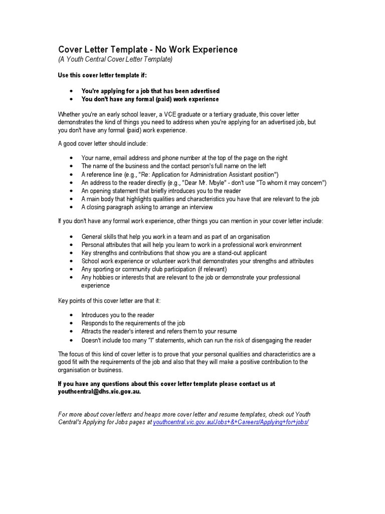 qualities of a good cover letter