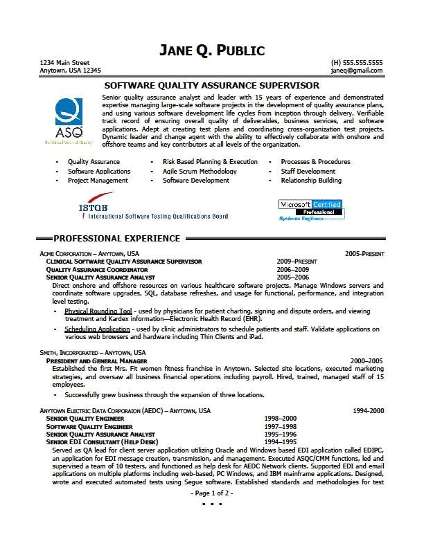 quality assurance surveillance plan template