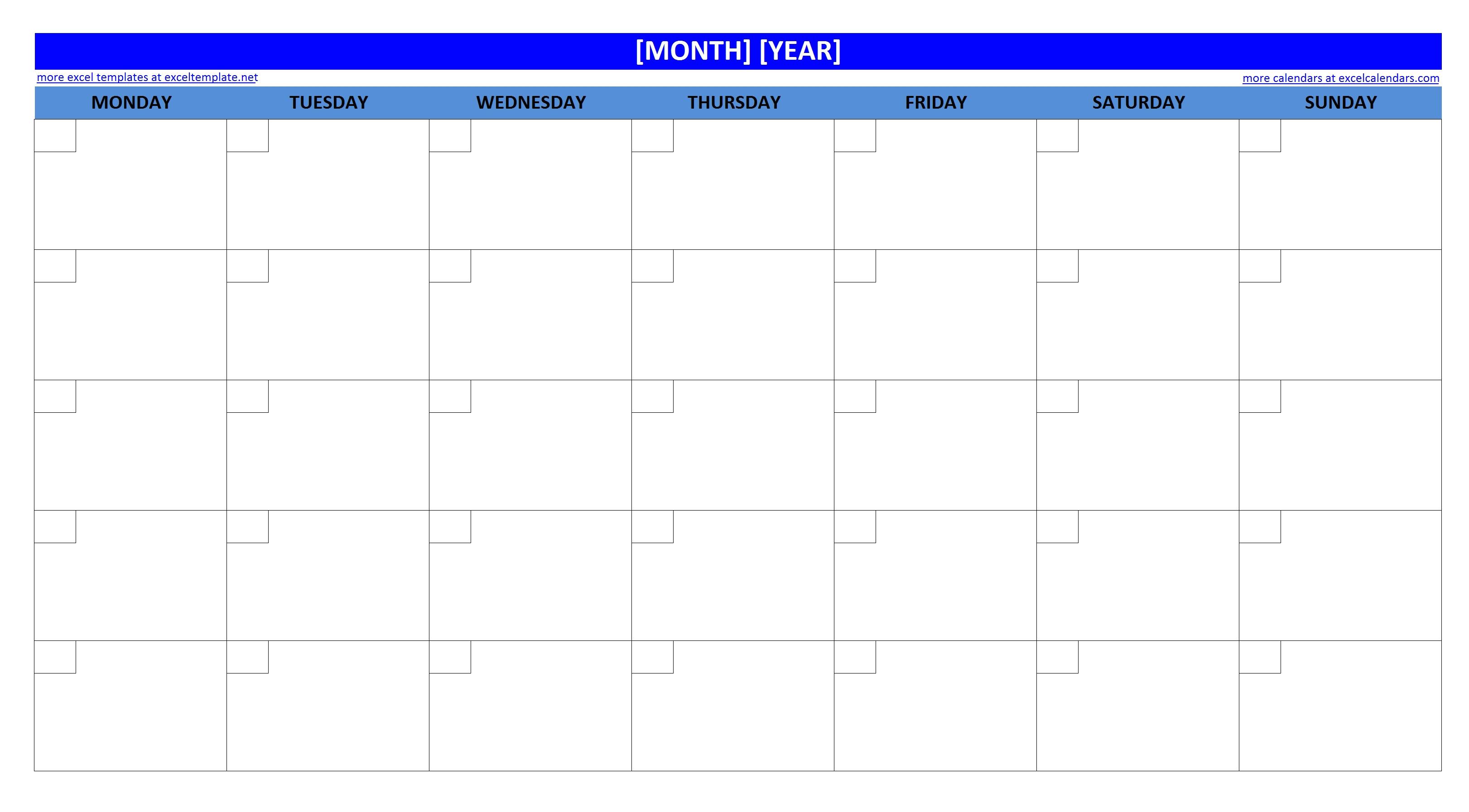 post blank month calendar template 148348