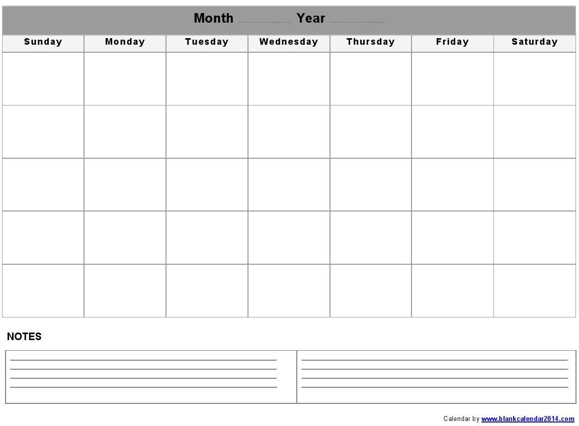 Quarterly Calendar 2014 Template 5 Best Images Of Monthly Calendar Printable Landscape