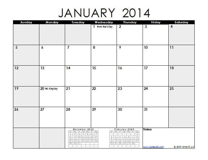 Quarterly Calendar Template 2014 8 Best Images Of Monthly Planner Printable 2014 Calendar