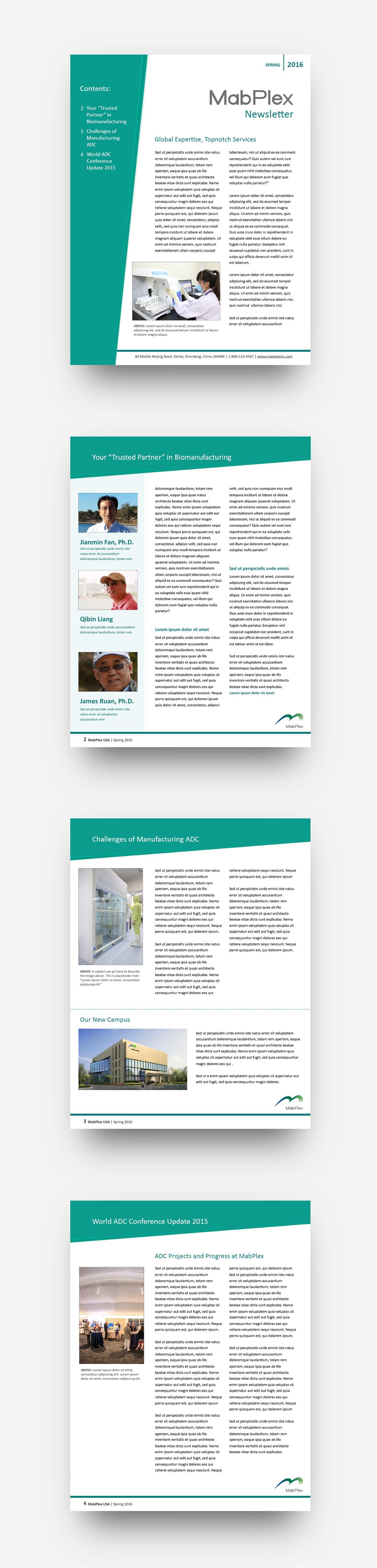 mabplex usa quarterly newsletter template