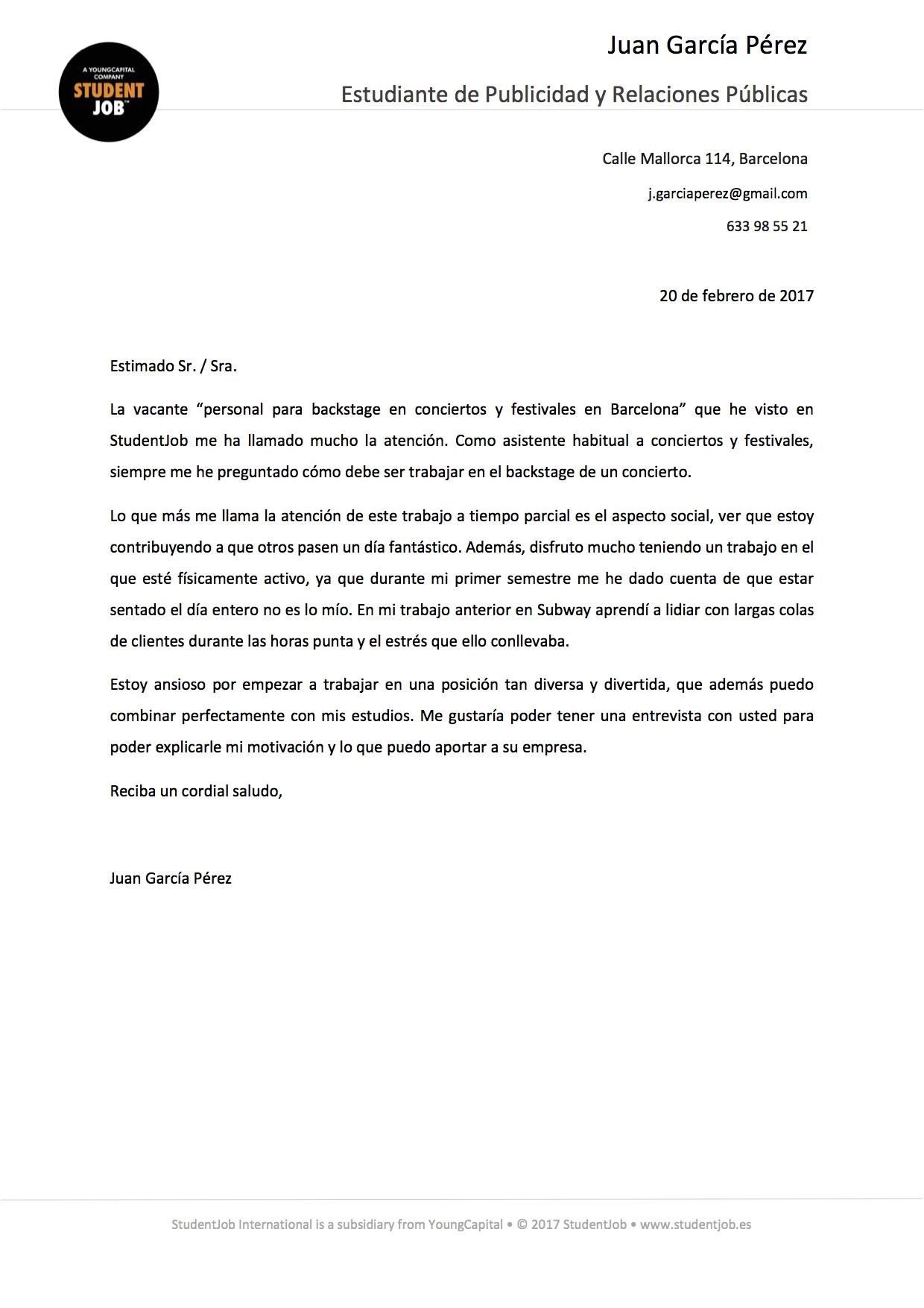 Que Es Una Cover Letter 80 Employment Letter Que Es 9 Sample Of Letter